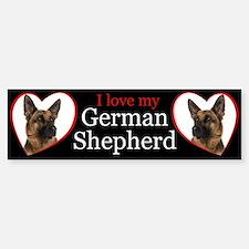 German Shepherd Car Car Sticker