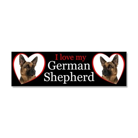 German Shepherd Car Magnet 10 x 3