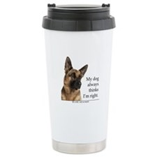 German Shepherd v Wife Travel Mug