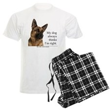 German Shepherd v Wife Pajamas