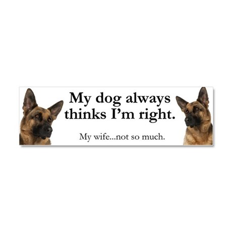 German Shepherd v Wife Car Magnet 10 x 3