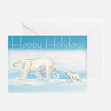 Happy Holidays Polar Bears Greeting Cards (Pk Of 1