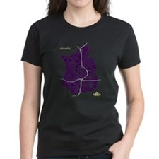 Atlanta Women's T-Shirt Purple on Violet