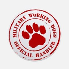 USMC Military Working Dogs Ornament (Round)