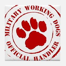 USMC Military Working Dogs Tile Coaster