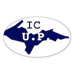 IC UP Sticker (Oval 50 pk)