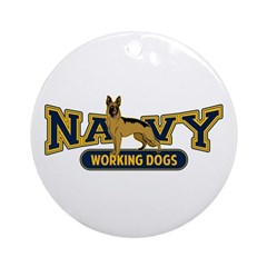 Navy Working Dogs Ornament (Round)