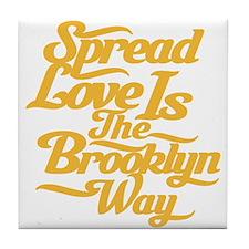 Brooklyn Love Yellow Tile Coaster