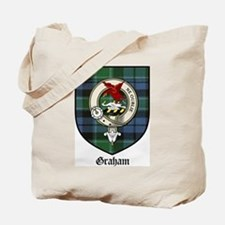 Graham Clan Crest Tartan Tote Bag