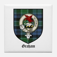 Graham Clan Crest Tartan Tile Coaster