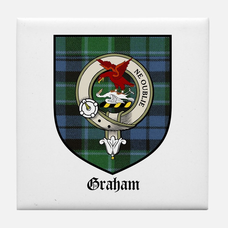 Graham Clan Crest Tartan Tile Coaster