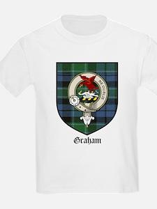 Graham Clan Crest Tartan Kids T-Shirt