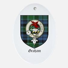Graham Clan Crest Tartan Oval Ornament