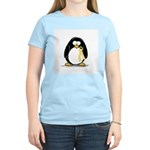 Yellow RIbbon penguin Women's Pink T-Shirt