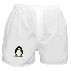 Yellow RIbbon penguin Boxer Shorts