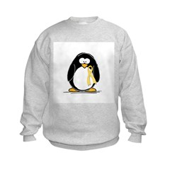 Yellow RIbbon penguin Sweatshirt