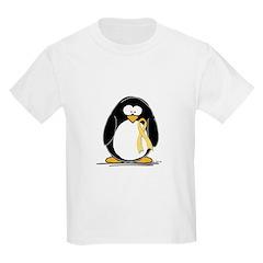 Yellow RIbbon penguin Kids T-Shirt