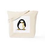 Yellow RIbbon penguin Tote Bag