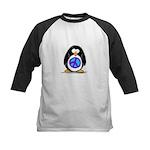 Peace penguin Kids Baseball Jersey