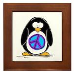 Peace penguin Framed Tile