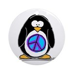 Peace penguin Ornament (Round)