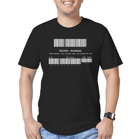 Military Issue Husband Men's Fitted T-Shirt (dark)