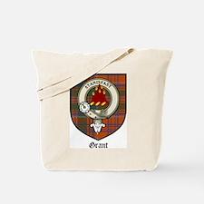 Grant Clan Crest Tartan Tote Bag