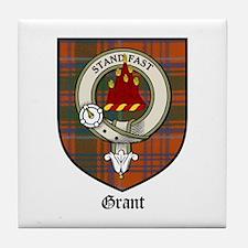 Grant Clan Crest Tartan Tile Coaster
