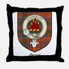 Grant Clan Crest Tartan Throw Pillow