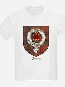Grant Clan Crest Tartan Kids T-Shirt