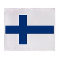 Finnish Flag Throw Blanket