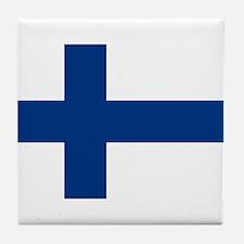 Finnish Flag Tile Coaster