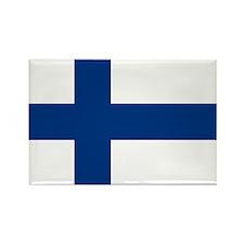 Finnish Flag Rectangle Magnet (10 pack)
