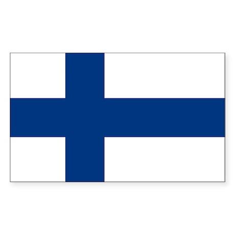 Finnish Flag Sticker (Rectangle)
