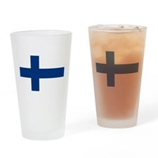 Finnish Flag Drinking Glass