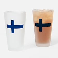Finnish Flag Drinking Glass