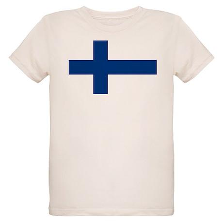 Finnish Flag Organic Kids T-Shirt