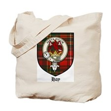 Hay Clan Crest Tartan Tote Bag