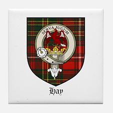 Hay Clan Crest Tartan Tile Coaster