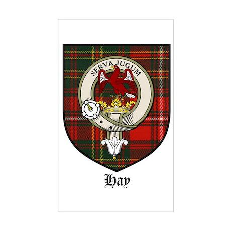 Hay Clan Crest Tartan Rectangle Sticker