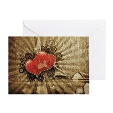 Steampunk Hearts Greeting Card