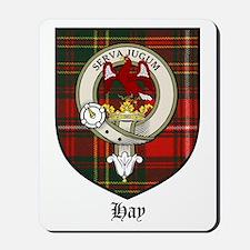 Hay Clan Crest Tartan Mousepad