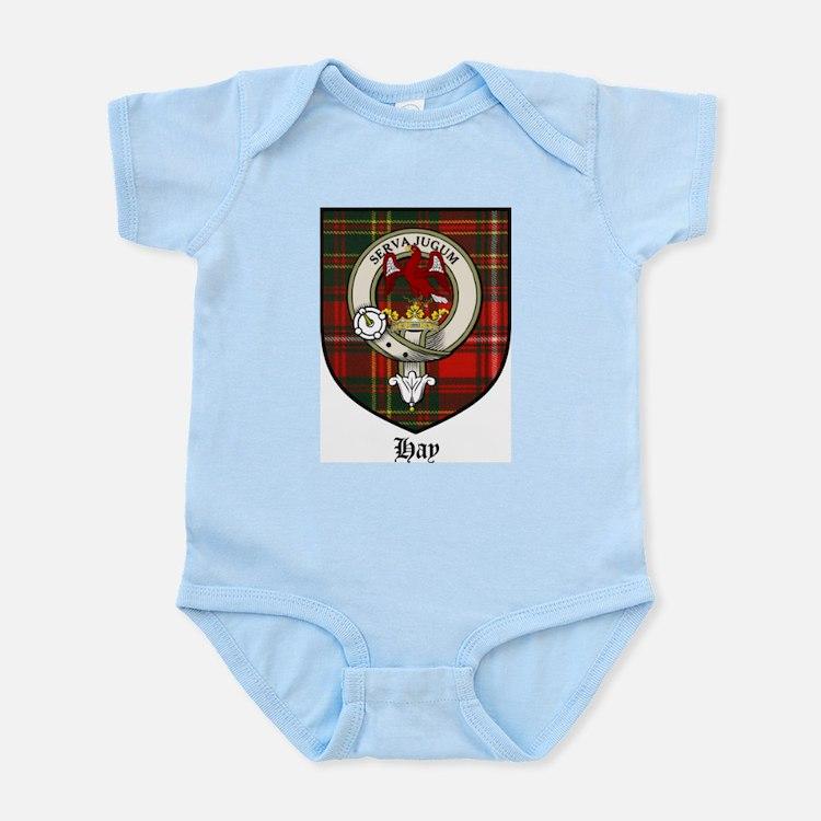 Hay Clan Crest Tartan Infant Creeper