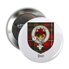 """Hay Clan Crest Tartan 2.25"""" Button (10 pack)"""