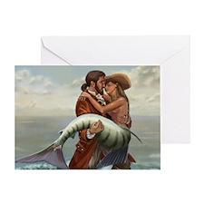 Pirate and Mermaid Greeting Card
