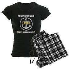 Navy Heart Pajamas