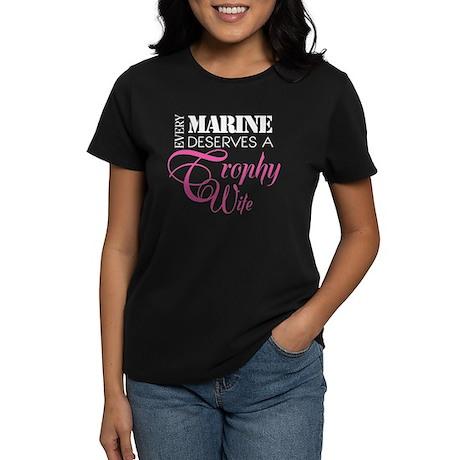 Marine Trophy Wife Women's Dark T-Shirt