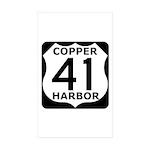 Copper Harbor 41 Sticker (Rectangle 50 pk)