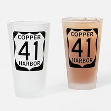 Copper Harbor 41 Drinking Glass