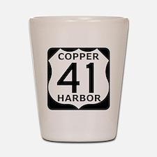 Copper Harbor 41 Shot Glass